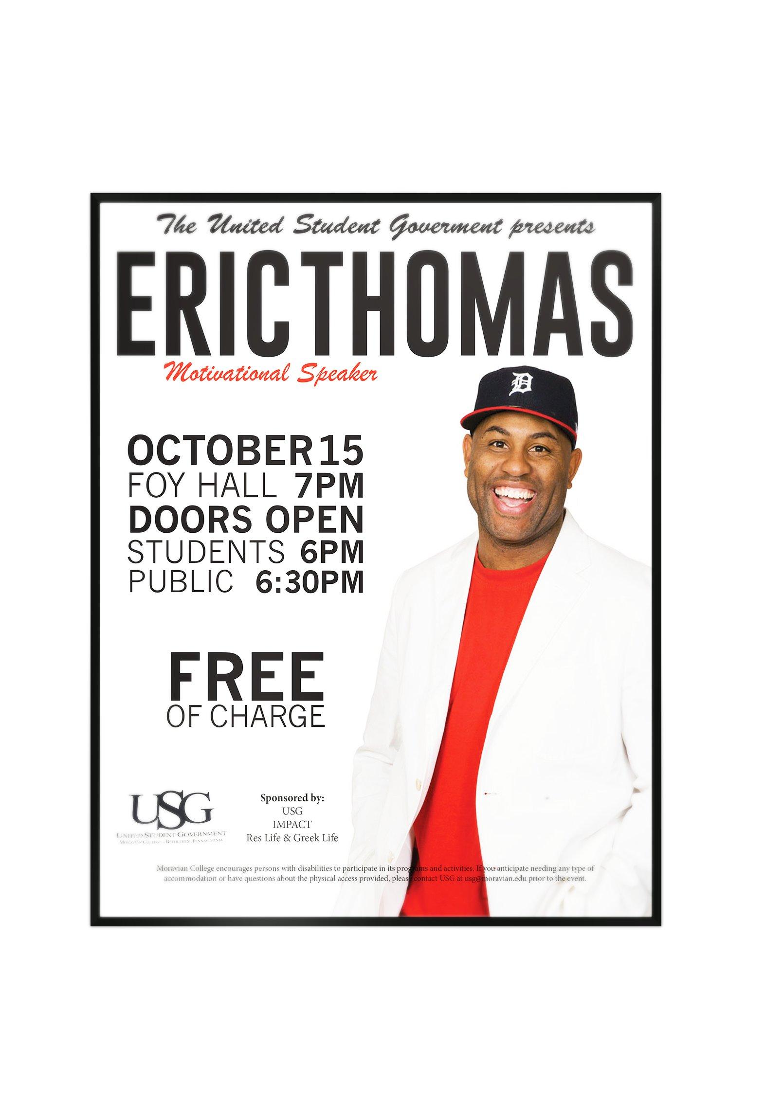 Eric Thomas Promotion